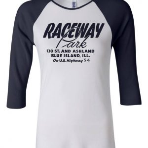 raceway park 3/4 sleeve t shirt for women